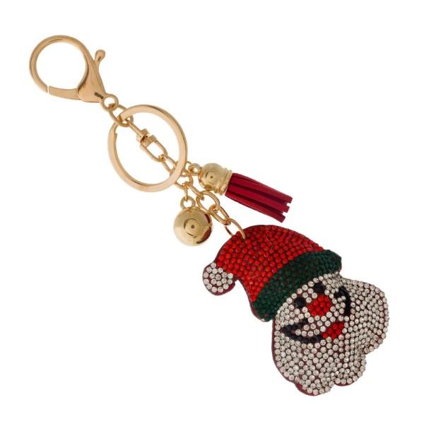 Wholesale gold keychain bag charm Santa Claus