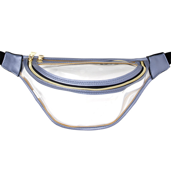 Wholesale clear fanny pack two zipper pouches Measuring