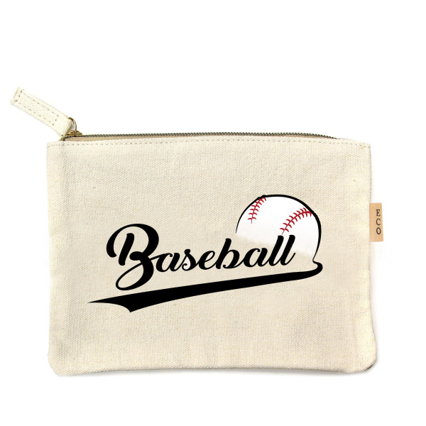 Wholesale canvas zipper pouch Baseball Cotton