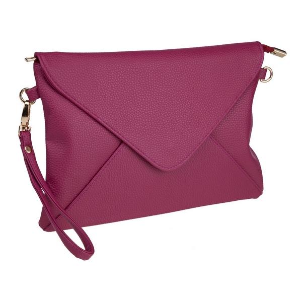 Wholesale plum faux leather envelope clutch removable wrist crossbody straps top