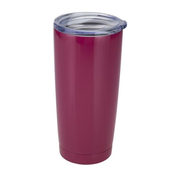 Wholesale plum tumbler cup vacuum insulation grade stainless steel BPA free push