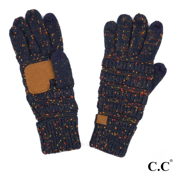 Wholesale c C G Ribbed confetti knit glove Acrylic One fits most