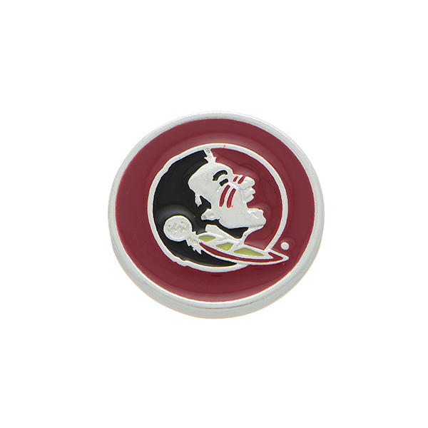 Wholesale silver officially licensed collegiate snap charm Florida State Univers