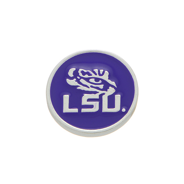 Wholesale silver officially licensed Louisiana State University snap charm stamp