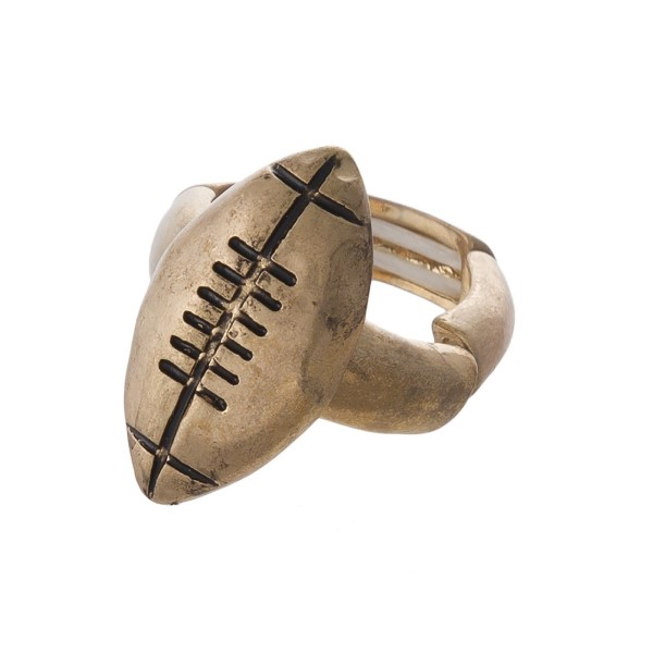 Wholesale metal football stretch ring