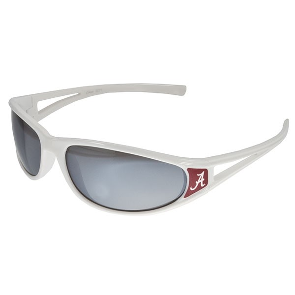 Wholesale officially licensed white sunglasses Crimson Alabama logo