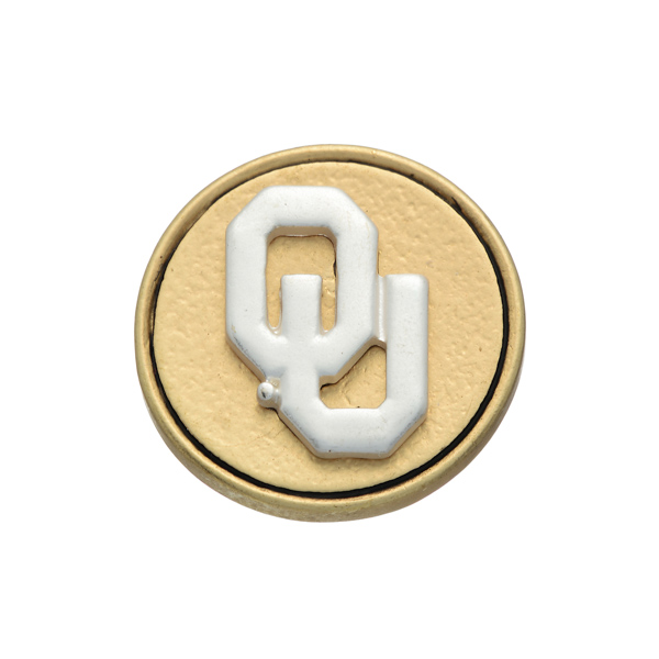 Wholesale matte two officially licensed University Oklahoma snap charm Snap jewe