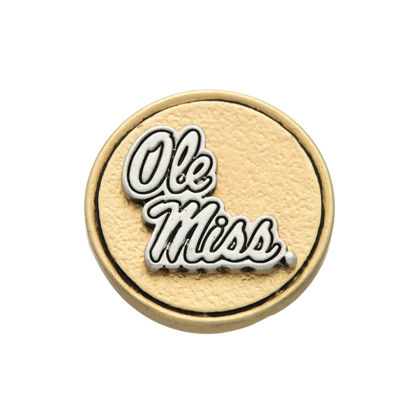 Wholesale matte two officially licensed Ole Miss snap charm Snap jewelry collect