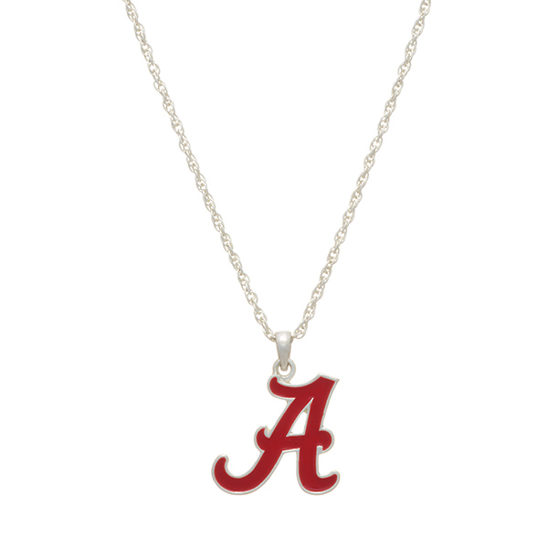 Wholesale silver officially licensed collegiate necklace University Alabama char