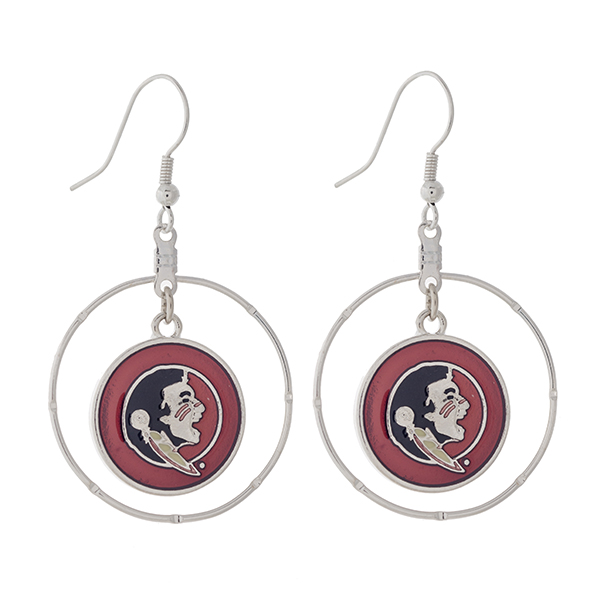 Wholesale silver fishhook earrings displaying ring dangling officially licensed