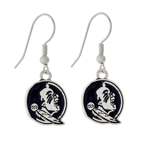 Wholesale silver official licensed Florida State Seminoles earrings