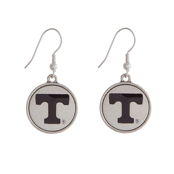Wholesale officially licensed University Tennessee silver fishhook earrings circ