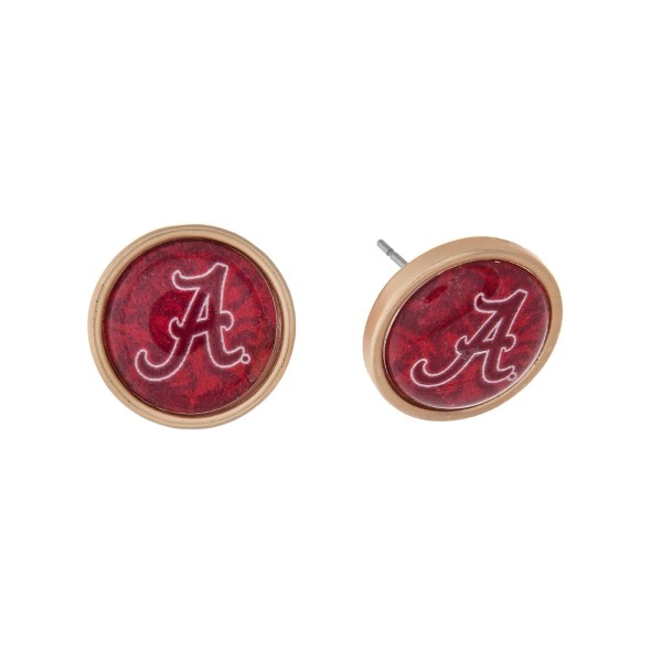 Wholesale gold officially licensed University Alabama stud earrings exclusive