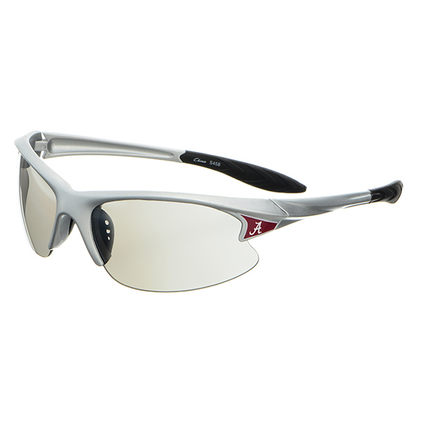Wholesale silver plastic frame sports elite sunglasses Alabama logos corners
