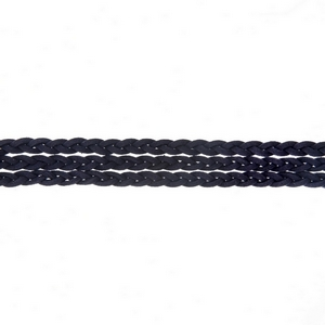 "Navy blue triple row, braided faux suede choker. Approximately 12"" in length."