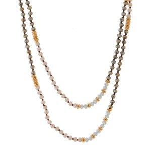 """Long faceted beaded necklace. Approximately 18"""""""