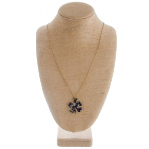 "Clover leaf earring and necklace set. Approximate 30"" in length with 1.5"" pendant."
