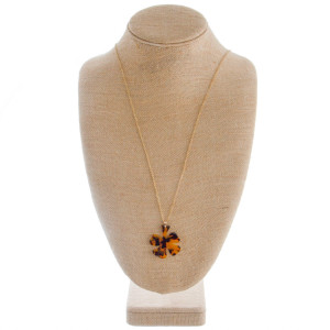 """Clover leaf earring and necklace set. Approximate 30"""" in length with 1.5"""" pendant."""