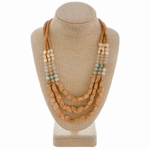 """Long beaded layered necklace. Approximate 22"""" in length."""