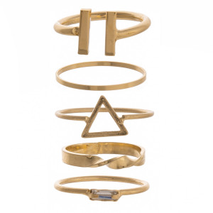 Gorgeous 5 ring set- multiple different designs.