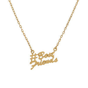 """Get your favorite #hashtag jewelry with a positive inspirational message. Gorgeous metal necklace Approximate 18"""" with 1"""" pendant. #Best Friends"""