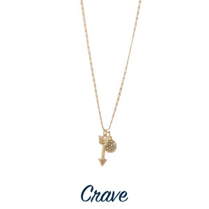 """Gorgeous short necklace with pendant and cross charms. Approximate 18"""" in length with 1.0"""" pendant."""
