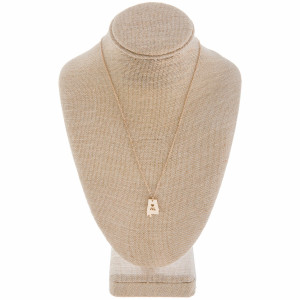 """Long metal necklace with Alabama state pendant. Approximate 20"""" in length. with 1"""" pendant."""