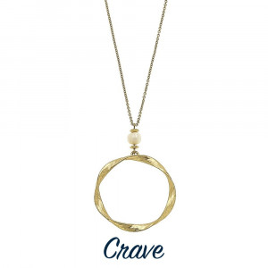 """Long hammered circle pendant necklaces with faux pearl detail. Chain is approximately 30"""" long. Pendant is approximately 1.75"""" in diameter."""