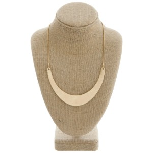 """Modern metal bib statement necklace.  - Bib pendant approximately 4.5"""" wide - Approximately 18"""" in length with 3"""" extender"""