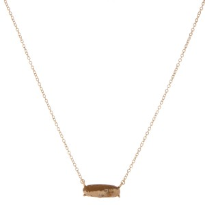 """Natural stone bar pendant necklace.  - Pendant approximately 1""""  - Approximately 18"""" L  - 3"""" extender"""