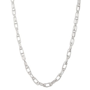 """Short double cable chain link necklace.  - Approximately 16"""" L - 3"""" extender"""
