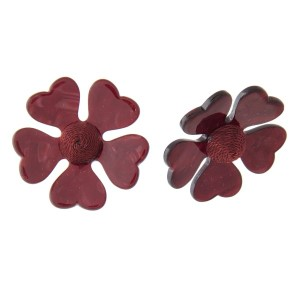 "Stud acetate flower earring. Approximately 1.5"" in length."