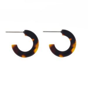 """Acetate hoop earring. Approximately 1/2"""" in diameter."""