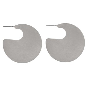 """Stud metal earring with circle shape. Approximately 1.25"""" in length."""