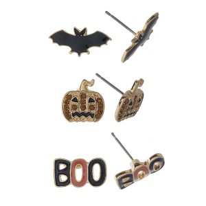 Halloween earring set.
