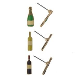 Wine bottle earring set.