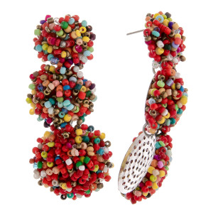 """Long gorgeous beaded earrings. Approximate 2.5"""" in length."""