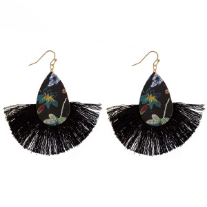 """Long earrings with tassel. Approximate 2.5"""" in length."""