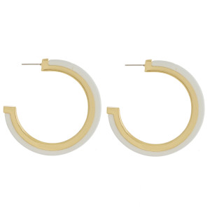 """Long metal and acetate earrings. Approximate 1.5"""" in length."""