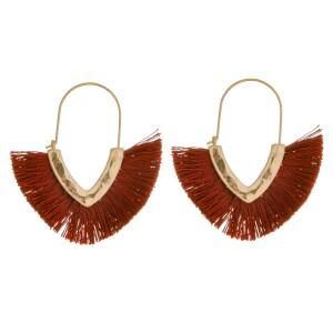 """Tassel wire hook hoop earrings.  - Approximately 1.75"""" in length"""