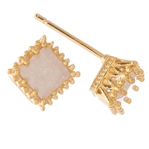 Gold dipped cubic zirconia stud earrings.  - Cubic Zirconia  - Approximately 5mm in size