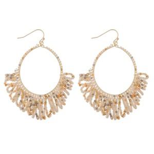 """Seed beaded loop tassel earrings.  - Approximately 2.5"""" in length and 1.5"""" in diameter"""