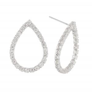 """Cubic Zirconia teardrop stud earrings.  - Approximately .75"""""""