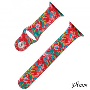 Flamingo print silicone watch band for smart watches. Fits the 38mm size smart watch.