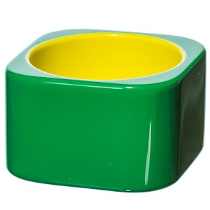 green and yellow square shaped bangle bracelet