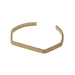 Matte gold tone geometrical cuff bracelet.