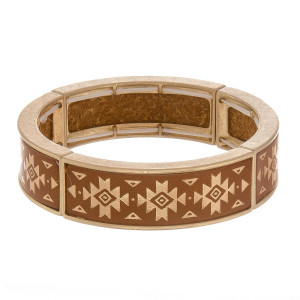 "Leather multi string bracelet with gold metal wrist details. Approximate 6"" in length."