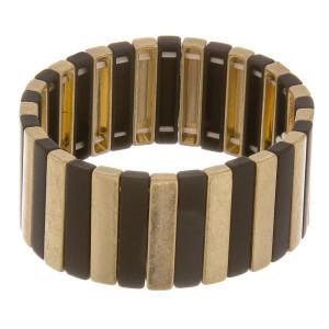 "Metal bar bracelet.  Approximate 7"" in length."
