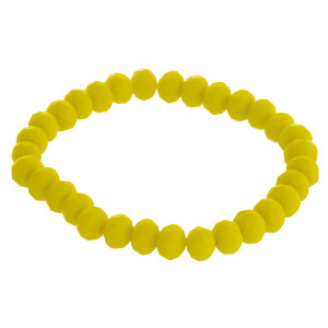 "Matte faceted beaded stretch bracelet.   - Approximately 3"" in diameter unstretched  - Fits up to a 6"" wrist"