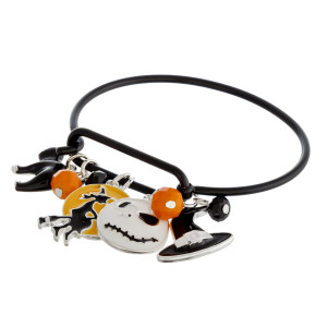 """Halloween """"Nightmare Before Christmas"""" charm bangle bracelet. Approximately 2.5"""" in diameter. Fits up to a 5"""" wrist."""